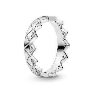 Pandora Geometric Crown Ring